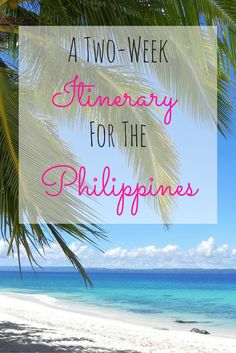 The Philippines is a magical place that is often left out of everyone's Southeast Asian adventures...But after reading this, you'll surely be swayed to tack it on to your holiday! Here's a two-week itinerary to get you sorted out.