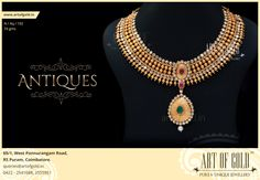 Some designs are just naturally perfect! #Gold #Bridal #Necklace