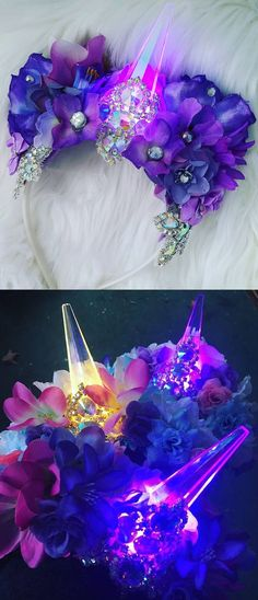 Mardi Gras Unicorn Crown with LED Lights. Ariel Little Mermaid. Perfect for Mardi Gras rave, music festival, dance competition, costume party, mermaid  photo shoot, pageant, and many more occasions! Mardi Gras Burning Man Festival Masquerade Costume Bra. Fantasy Mardi Gras Parade Outfits Ideas. #mardigras #mardigrasbra #ravebra #mermaidbra #mardigrasdress #mardigrascostumes #mardigrasoutfits #unicorns #unicornoutfit #outfits #mardigrasideas #outfitinspiration #affiliatelink #etsyfinds