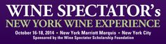 New York Wine Experience 2014  - A joyous three-day festival of great wine.