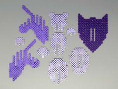 Unicorn Head 3D Perler Bead Puzzle Wall Decor by MIZGVUSdesigns