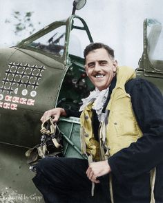 """Clive """"Killer"""" Caldwell RAAF 28.5 kills,6 probables and 15 damaged http://en.wikipedia.org/wiki/Clive_Caldwell"""