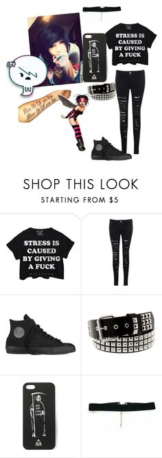 """Stress is caused by..."" by hiddenshadowxd ❤ liked on Polyvore featuring Converse"