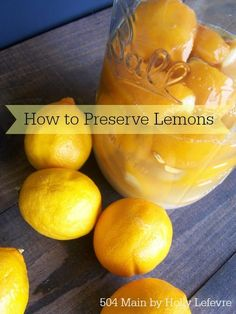 Preserved Lemons on Pinterest | Preserves, Lemon and Lemon Recipes
