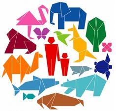 Ideas for origami design illustration Design Origami, Origami Tattoo, Origami Font, Origami And Kirigami, Pixel Image, Origami Animals, Japanese Graphic Design, Nagoya, Animal Design