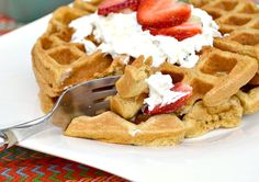 Whole Grain Waffles  per waffle: 250 calories, 7 grams of fat, 25 grams of carbohydrates, 4 grams of fiber, 8 grams of protein and 5 Weight Watchers points.