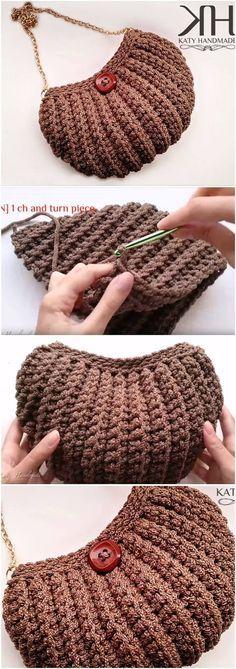 Crochet Shell Stitch Bag