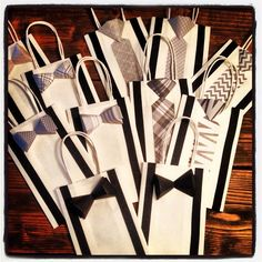 Bowtie and Tie Gift Bags Small Size by BallerinaCreations on Etsy