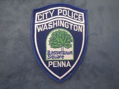 E77  Vintage Police Patch Washington City Pennsylvania