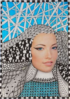 coco.nut: zentangle with blue