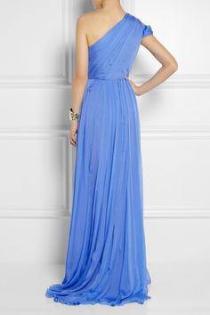 Matthew Williamson|One-shoulder embellished silk-chiffon gown|NET-A-PORTER.COM