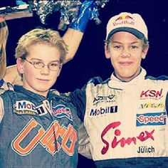 fans-of-sebastian-vettel:  Little Sebastian Vettel with little Nico Hulkenberg in 2001 :)