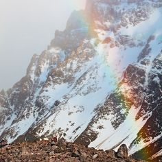Rainbow in Patagonia. Yes please! (cred: Colby Brown)