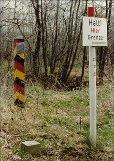 U.S. Army Aschaffenburg Germany | Border markers and sign