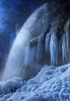Frozen in the moonlight - Swabian Alb, Germany
