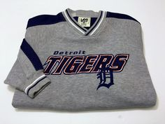 Detroit Tigers Retro 2XL XXL Lee Sports Sweatshirt Pullover Long Sleeve #LEESPORTS #Sweatshirt
