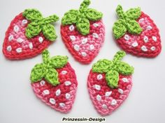 Háčkování - jahody - návrhář kus Princess designu na DaWanda