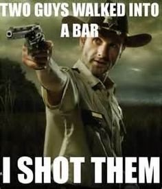 Rick takes care of business in The Walking Dead