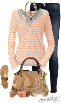 Layered top & skinny jeans - great summer look!