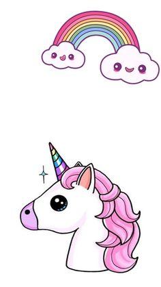 Unicorn Drawing, Unicorn Art, Cute Unicorn, Rainbow Unicorn, Chibi Kawaii, Kawaii Anime, Mandala Art, Unicornios Wallpaper, Cute Kawaii Girl