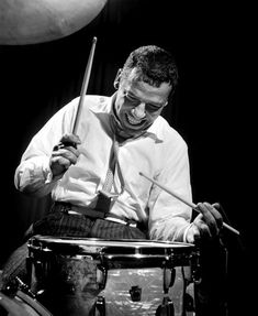 """Bernard BUDDY Rich born 1917: American jazz drummer & bandleader. Billed as """"the world's greatest drummer"""" known for virtuoso technique, power, groove, speed. RESEARCH #DdO:) - https://www.pinterest.com/DianaDeeOsborne/drums-drumming-joy/ - DRUMS & DRUMMING JOY.  Started performing at 18 months old as a child star in vaudeville. Drummed with bandleaders Tommy Dorsey & Artie Shaw. Eventually led his own band. Continued until shortly before his death in Los Angeles, on April 2, 1987, at age…"""