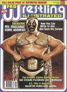 Mil Mascaras on the cover of Pro Wrestling Illustrated magazine