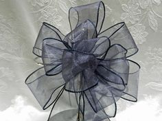 Navy Blue Wedding/ Pew Bows set of 12 Colors by creativelycarole, $75.00