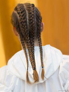 Kenzo resort, cornrow braids / Garance Doré