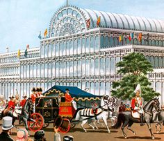 The Great Exhibition, opened by Queen Victoria in 1851, was an enormous success; and when it was over, many people found that they had grown attached to the giant glasshouse, the Crystal Palace, which had been built specially for the exhibition.