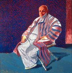 'Divine,' 1979 Acrylic on Canvas. 60x60 in. DAVID HOCKNEY: PAINTINGS