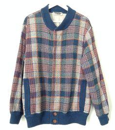 4c9cc4a61fa3 Missoni vintage reversible cotton jacket    original Missoni sweater     authentique Missoni cardigan    genuine missoni   1980s