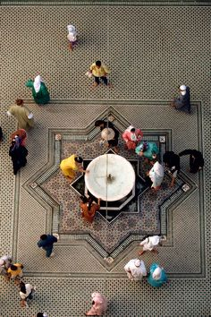 Morocco.Fez.Courtyard of the Zaouiya of Moulay Idriss.1993