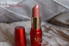 Miss Broadway Smart Kiss Lipstick   Pearly Caramel #missbroadway #bewe #lipstick #redlipstick #red #rouge #pearlycaramel #caramel  #makeup #beauty #levres #lips #beautyblog #beautyblogger #mybeautytools #LaCocci #beautyreview  http://mybeautytools.blogspot.com/2015/01/miss-broadway-smart-kiss.html