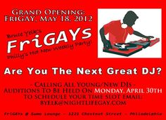 Looking for the next great dj for a Sumo's new LGBT night beginning on May 18th.