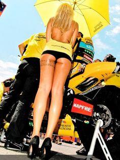 Moto GP girls...even the bike tyres aren't that firm!