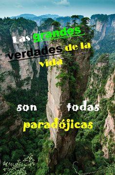 paradojas = verdades = misterios