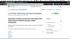 A gif showing how you can click the link below, find your city on the list of Campsites, then click on the Facebook link for your city and join your city's Facebook group.