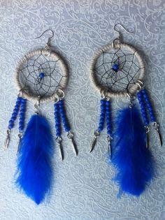 Blue Dreamcatcher earring par jewelryBYplk sur Etsy, $20.00