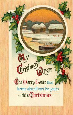 My Christmas wish for you... #vintage #Christmas #cards