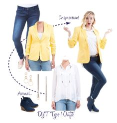 DYT Type 1 Outfit - Ray of Sunshine Jacket by sarah-dee-73 on Polyvore featuring SONOMA Goods for Life