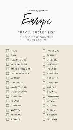 Europe travel bucket list - New Ideas Europe Destinations, Europe Travel Tips, Travel List, Travel Packing, Places To Travel, Travel Hacks, Travel Bucket Lists, Backpacking Europe, Travel Plan