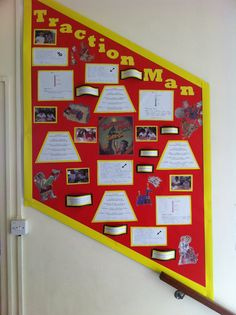 'Traction man' reading display- year 4/5 primary school display