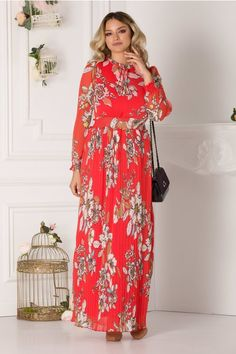Rochii cu Imprimeuri Dresses With Sleeves, Women's Fashion, Long Sleeve, Floral, Fashion Women, Sleeve Dresses, Long Dress Patterns, Gowns With Sleeves