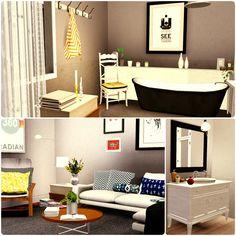 Urban Living by Simberry / Bathroom / Livingroom / Sims 3 / Apartment Sims 3 Apartment, Free Sims, Different Styles, Apartments, Urban, Living Room, Bathroom, House, Washroom