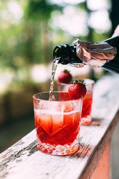 Strawberry, Basil + Pink Peppercorn Negroni