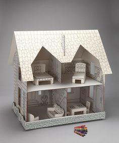 Motion Marketing Coloring Dollhouse Set