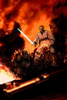 Obi-Wan Kenobi vs. Anakin Skywalker - Star Wars - Chris Bolton
