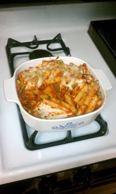 "Lasagna-Style Baked Ziti! ""Awesome combo of my 2 fave types of pasta ..."