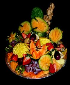 Fruit+Art+Carving | ... With Fruit | fruit vegetable art | flowers with fruit |: Fruit Carving