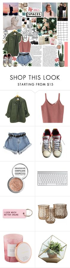 """""""i get caught up, just for a minute //"""" by slightdrizzle ❤ liked on Polyvore featuring adidas, Obsessive Compulsive Cosmetics, Various Projects, Lazy Susan, D.L. & Co., Danya B and NARS Cosmetics"""